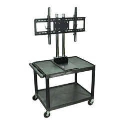 Luxor - H Wilson Flat Panel Cart - WPTV28E - H Wilson's WPTV28E The Exclusive counter-weight system provides superior stability and ensures safe movement of your TV.