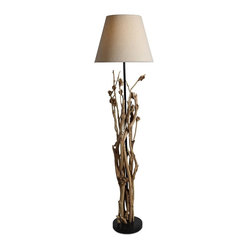 wooden handmade floor lamp will also brings you warm light for your. Black Bedroom Furniture Sets. Home Design Ideas