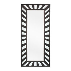 Surya - Surya Bronze Industrial Leaner Mirror - 47W x 47H in. - MRR1016-7535 - Shop for Mirrors from Hayneedle.com! The Surya Bronze Industrial Leaner Mirror - 47W x 47H in. makes a great full-body mirror for the bedroom or a panoramic wall-mounted mirror for your living room or foyer. The rectangular mirror features a beveled edge and is supported by a sturdy frame made from thick durable medium-density fiberboard. The frame features an alternative negative-space design featuring alternating bare areas of mirror and slats of wood radiating from a center focus. The frame comes finished in textural bronze for a handsome traditional look. The mirror can be leaned against the well for display or hung either vertically or horizontally thanks to D-ring hangers on the back. Mirror weighs 76 lbs.About SuryaSince 1976 Surya has established itself as one of India's leading producers of fine rugs and home goods. Their products are sold in the U.S.A. at respected department and specialty stores. The company is known for its quality value dedication and innovation. This includes responsibility for the entire process of creating home decor - spinning dyeing weaving and finishing. Surya prides itself on using the best raw material available for the production of their rugs throws and decor items. They are proud members of Wools of New Zealand. From design concept through production a Surya family member is involved making sure that the highest standards are being met at each level. Surya works with top designers and constantly updates their designs and color palettes to match and set the trends in design and fashion for the home. Surya always means a fine choice.