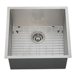 Polaris Sinks - Polaris PS1232 18 Gauge Kitchen Ensemble - Polaris Sinks PS1232 18 Gauge Kitchen Ensemble (3 Items: Sink, Standard Strainer, Sink Grid)