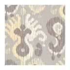 Gray & Yellow Giant Ikat Linen Fabric - Oversized ikat that makes a big (literally!) statement in soft shades of gray & light yellow on luxurious linen.Recover your chair. Upholster a wall. Create a framed piece of art. Sew your own home accent. Whatever your decorating project, Loom's gorgeous, designer fabrics by the yard are up to the challenge!