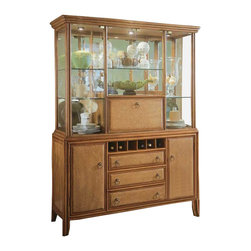 American Drew - American Drew Antigua Collection China Cabinet - American Drew-China Cabinets-931830R-Give your home a beach-side resort feel with the American Drew Antigua Collection China Cabinet. It features simulated cane wood detailing and tightly woven rattan accented drawer fronts for a decidedly tropical appeal. With its relaxed appearance and organic feel this delightful china cabinet is warm and inviting.