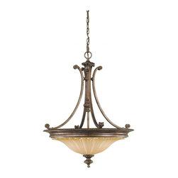 Stirling Castle Collection 3- Light Uplight Chandelier - Item Weight: 21.49