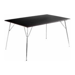 Modernica - Modernica | Case Study Folding Table: Rectangle - The Rectangular Case Study Table is designed with simplicity and variety of application in mind. Thin folding legs in Chrome, and a spare table top merge to create this modernist utility table that can answer to a thousand tasks. Originally designed by Charles and Ray Eames, each table follows strict adherence to the original design's dimensions, frame construction, and materials. Available in Laminate, Walnut and Maple.