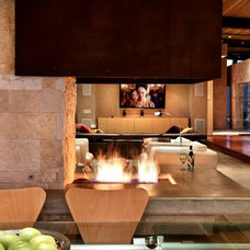 Modern Indoor Fireplaces by International Iron and Stone LLC