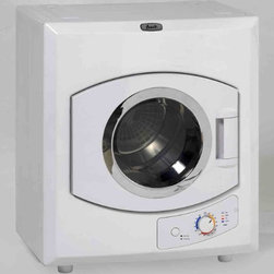 """Avanti - Automatic Cloth Dryer OB - Avanti 115 Volt Electric Auto Clothes Dryer  white finish with moisture sensor & control.  Lightweight for easy portability  Stainless steel drum  Multiple Time/Temperature settings (high/low heat  Air Dry  Anti-wrinkle)  See-thru window  Multiple installation options  9 lbs. drying capacity  23.5""""W x 27.5""""H x 17.5""""D  44 lbs.  This item cannot be shipped to APO/FPO addresses. Please accept our apologies."""