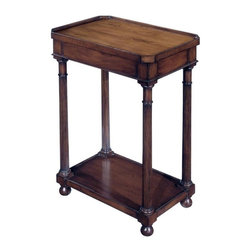 EuroLux Home - New Regency Style Drinks Table Yew Wood - Product Details