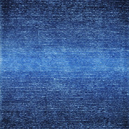 "Loloi Rugs - Loloi Rugs Jasper Shag Collection - Cobalt Blue, 7'-9"" x 9'-9"" - Jasper Shag is a contemporary line made in China of 100-percent polyester that is textured with long strands and short cut pile. It features a striking ombre color effect, with gradations of color fading from dark to light. Choose from green glow, mocha, iron, cobalt blue, red, sand and wineberry."