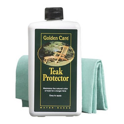 Golden Care® Teak Protector - Protect and maintain the finish of teak outdoor furniture with this special preparation. Water-based Teak Protector is easy to use, and with annual application will maintain the color of our teak collections and other blonde wood furniture.