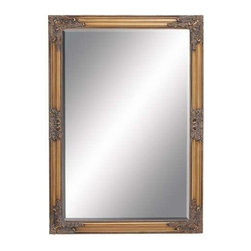 """Benzara - Beveled Mirror in Intricate Baroque Style Accents - Beveled Mirror in Intricate Baroque Style Accents. Lend a rich, regal touch to home settings with this attractive and stunningly designed Framed Beveled Mirror. It comes with following dimensions 28""""W x 1""""D x 40""""H."""