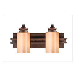 Golden Lighting - Hidalgo 2 Light Vanity - Revamp your bathroom lighting with the attractive illumination of this vanity light. The result: A refined contemporary look and superb ambience all in one.