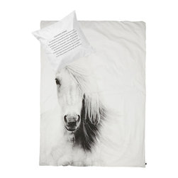 Junior Bedlinen, Horse - Pure, simple and cozy duvet with horse print.