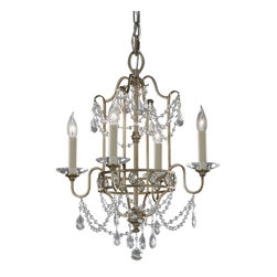 Murray Feiss - Murray Feiss Gianna Mini Chandelier in Gilded Silver - Shown in picture: Gianna Chandelier - Mini Duo in Gilded Silver finish