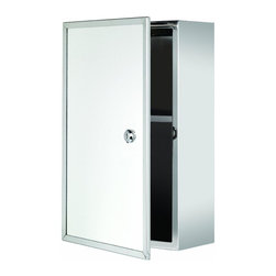 Croydex - Croydex Trent Lockable Medicine Cabinet, Stainless Steel (WC846005YW) - Croydex WC846005YW Trent Lockable Medicine Cabinet, Stainless Steel
