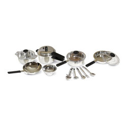 Casdon - Casdon Kids Play Pan Set Multicolor - 502 - Shop for Cooking and Housekeeping from Hayneedle.com! If you're tired of your kids scuffing up your pots and pans as they play kitchen you need the Casdon Kids Play Pan Set. These gorgeous pans have a realistic chrome finish and black stay-cool handles so they look just like mom and dad's pans! Add lids for the pans and five utensils and your kids will have everything they need to play pretend.Role play is important to help kids develop social skills and problem solving skills. And toys like these with removable parts help kids improve their fine motor skills and hand-eye coordination. The Casdon Kids Play Pan Set lets your kids develop essential life skills while they're playing. Combine this set with other Casdon Kids Play cooking toys for even more fun!About CASDONCASDON has 65 years of toy-making experience working in its favor. A toolmaker by the name of Tom Cassidy left his day job in 1946 to produce small plastic articles such as skating boots for children and teenagers. Tom's brother Joe Cassidy joined the company in 1950 and operating under the name of the Cassidy Brothers they opened their first factory in 1956. Jump forward a few decades and you have the CASDON of today a company committed to producing only the best multi-featured toy replicas.