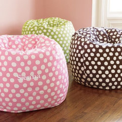Green Painted Dot Beanbag -
