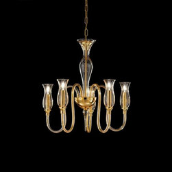 Lightology Collection - 1020 One Tier Chandelier - 1020 One Tier Chandelier from the Soffio Collection features a Chrome or Gold finish  and is available in Crystal, Amber or Smoked glass shade options.  Available with 3, 5, 6, 8, 10 or 12 arms. Aslo available in a Two Tier Chandelier.  Fourty watt, 120 volt G12/Candelabra base Incandescent bulbs are required, but not included.  Three:  19.29 inch width x 23.622 inch height x 47.24 inch overall length.  Five:  24.44 inch width x 23.62 in ch height x 47.24 inch overall length.  Six: 31.1 inch width x 25.59 inch height x 49.21 inch overall length.  Eight: 32.28 inch width x 25.98 inch height x 49.60 inch overall length. Ten:  40.94 inch width x 27.16 inch height x 50.79 inch overall length.  12:  40.94 inch width x 27.16 inch width x 50.79 inch overall length.  Made in Italy.