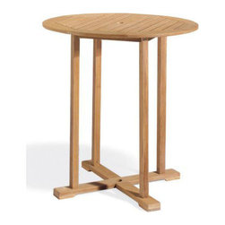 "Oxford Garden Sonoma 36"" Shorea Bar Table - Claim this Sonoma 36"" Bar Table as your own and let the fun begin.  You can bring the Tiki-Hut style vacation to your own patio.  A perfect"