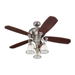 Sea Gull Lighting - Ceiling Fan - This Ceiling Fan has a Nickel Finish and is part of the Laurel Leaf Collection.