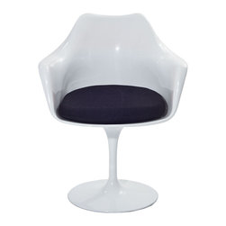 Modway - Modway EEI-116 Lippa Dining Armchair in Black - The Lippa Side Chair adds the perfect modern classic touch to any dinning space. Sturdy, easy to clean and lovely to behold, these chairs elevate a meal to whole new levels of enjoyment. Available in an array of colors, the Lippa Chair makes it easy to express your individual style.
