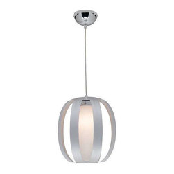 Access Lighting - Access Lighting 23425-ALU/OPL Helix Modern Pendant Light - Aluminum - Access Lighting 23425-ALU/OPL Helix Modern Pendant Light In Aluminum