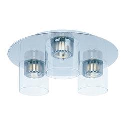 ET2 - Three Light Flush Mount - SKU: E23060-18PC - Three Light Flush Mount