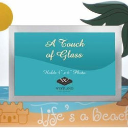 WL - Palm and Sandcastle Design Glass Photo Frame with Life's a Beach Logo - This gorgeous Palm and Sandcastle Design Glass Photo Frame with Life's a Beach Logo has the finest details and highest quality you will find anywhere! Palm and Sandcastle Design Glass Photo Frame with Life's a Beach Logo is truly remarkable.