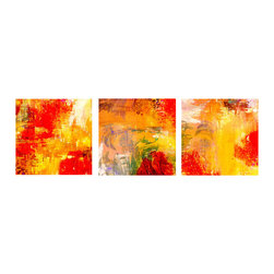 Ready2HangArt - Ready2hangart Alexis Bueno Abstract (3-PC) Canvas Wall Art Set - This abstract canvas art set is the perfect addition to any contemporary space. It is fully finished, arriving ready to hang on the wall of your choice.