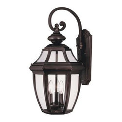 Savoy House - Outdoor Wall Light - A builder?s dream for outdoor lighting! A classic, traditional look as economical as it is versatile. English Bronze finish with Clear glass.