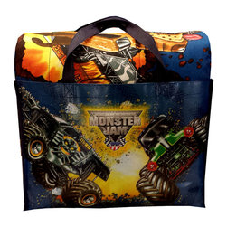 Jay Franco and Sons - Monster Jam Twin Bedding Set Trucks Comforter Sheets - FEATURES: