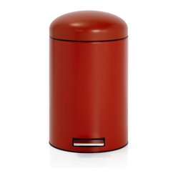 Brabantia Retro Pedal Bin With Motion Control, Deep Red