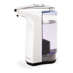 simplehuman - Compact Sensor Pump With Soap Sample, White, 8 Fl. Oz. - Wash all your cares — or at least the daily grime — away with this liquid soap dispenser. Wave your hand under the sensor and the perfect pump of soap magically appears where you need it. It's also designed to be drip-free and easy to refill. Has washing your hands ever been this easy?