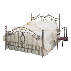 Hillsdale Furniture - Hillsdale Milano Panel Bed - King - A very flexible design that fits either in a contemporary or traditional environment. Pretty center casting captures matching oval arches with the inner arch of rope design.