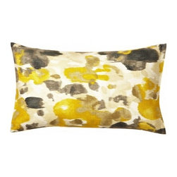 5 Surry Lane - Robert Allen Landsmeer Citrine Yellow Floral Lumbar Pillow - Soft yet striking in shade and design, you will want one of these watercolor-inspired pillows in every room. And when it's this pretty and versatile, why not?