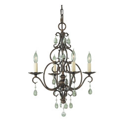 Murray Feiss - Murray Feiss Chateau 1 Tier Chandelier in Mocha Bronze - Shown in picture: Chateau 4 Light Chandelier in Mocha Bronze finish