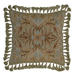"""EuroLux Home - New 20""""x20"""" Throw Pillow Flourishes - Product Details"""
