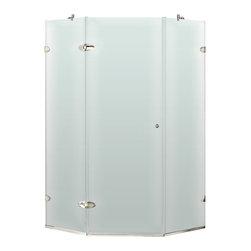 "VIGO Industries - VIGO 42 x 42 Frameless Neo-Angle 3/8"" Shower, Right - VIGO's exquisite taste and superior quality is reflected in this totally frameless neo-angle shower enclosure"