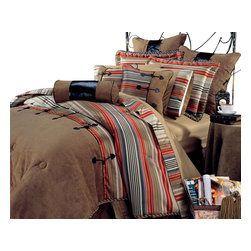 Hallmart Collectibles - Siesta Comforter Set (Queen) - Choose Size: Queen. Hacienda 10-piece comforter set. Dry clean only. Made of Polyester. Spice colored