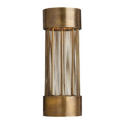 Arteriors Home - Arteriors Home Berti 2L Solid Brass/Glass Table Lamp - Arteriors Home DK46022 - Arteriors Home DK46022 - The Berti Table Lamp from Arteriors was inspired by sunlit grass blowing in a field. The result looks minimal and modern.Designer: Laura KirarFeatures: Antique Brass Finish/Frosted Glass