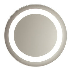 Nameeks - Vanita and Casa Lighted Vanity Mirror 0060-708S | Nameeks - Made in Italy. A part of Vanita & Casa by Nameek's.The elegant Vanita and Casa Lighted Vanity Mirror 0060-708S is an irresistible addition to any modern master bath. This round mirror is bordered with lighting to offer the ideal illumination to your bathroom. The built-in defogger allows this striking mirror to preserve its crystal-clear reflection even in steamy rooms. This timeless mirror includes an on/off switch, a direct wire, and a safety PVC packing that eliminates the risk of shattered glass. Product Features: