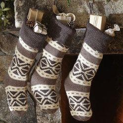 Fair Isle Knit Stocking