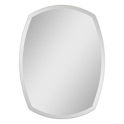 "Ren-Wil - Oval Frameless Mirror - This contemporary mirror has a unique shape that would have a great designer effect in a bathroom. It has beveled and polished edges. The mirror is attached to a backing with strong hangers.; Features: Artist: Jonathan Wilner/Paul De Bellefeuille; Frame Material: Mirror; Color/Finish: All glass; Oval Frameless Mirror; Sleek, Clean Frameless Design; Oval Beveled Mirror; Hangs both Vertically & horizontally; No Lead content.; 1 Year Warranty against Manufacturer's Defect; Weight: 15 lbs.; Dimensions: 24""L x 32""W x 1""H"