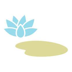 My Wonderful Walls - Lily Pad Stencil for Painting - - 2-piece lily pad stencil