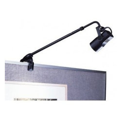 WAC Lighting - DL-007 Clamp Mount Low Voltage Display Light - Low voltage display light with plug in transformer for use on wall partitions, display booths, and portable work areas.
