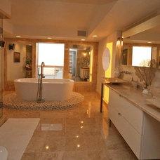 Contemporary Bathroom by Pathfinder Group Designs Inc.