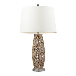 Dimond Lighting - Maria 1-Light Table Lamp in Golden Pearl - Dimond Lighting D2261 Maria 1-Light Table Lamp in Golden Pearl