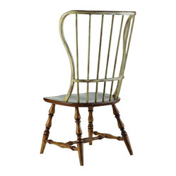 Hooker Furniture - Spindle Back Side Chair, Drift & Dune Set of Two - If you have an eclectic style, you'll embrace these spindle back chairs. Part Early American and part beach vibe, they will definitely become your favorite chairs to pull up to the table and spend some time in.