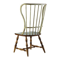 Hooker Furniture - Spindle Back Side Chair - Drift and Dune - If you have an eclectic style, you'll embrace these spindle back chairs. Part Early American and part beach vibe, they will definitely become your favorite chairs to pull up to the table and spend some time in.