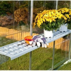 Palram Shelf Kit - Expand your growing space inside your Snap & Grow greenhouse with the Palram Shelf Kit. Durable and lightweight this shelf attaches to the frame inside your greenhouse and is easy to reposition as your needs change.