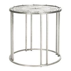 Safavieh - Roman Clock End Table - Roman Clock End Table Gray,White